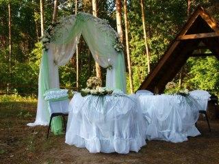 Оформлення залу, декор майданчика на весілля