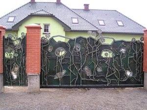Ворота дворові ковані