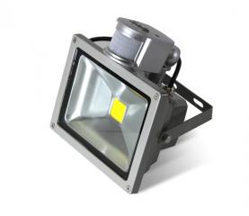 Прожектор Led 10W з датчиком руху SLIM IP66